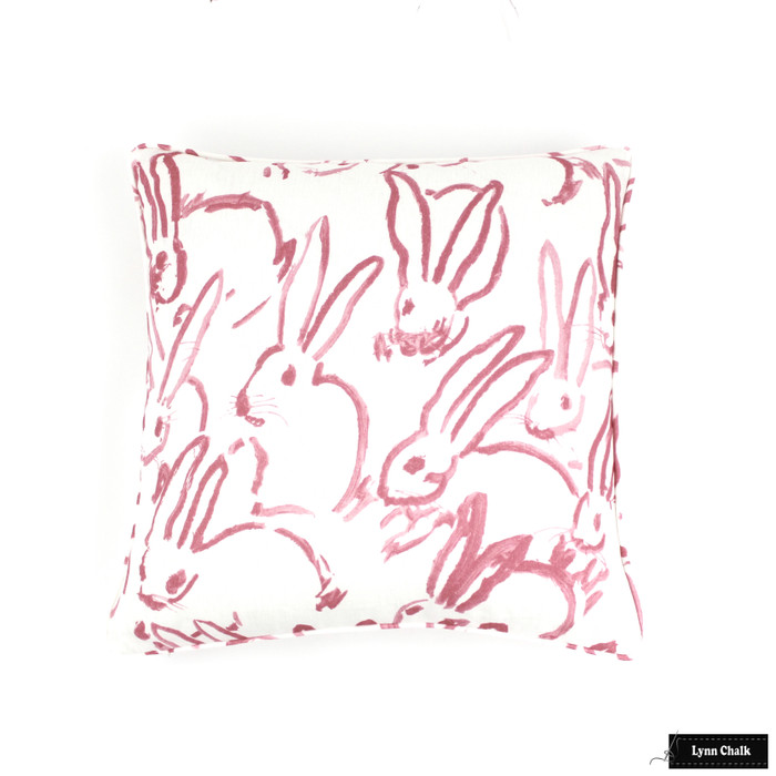 ON SALE - Hunt Slonem for Kravet Hutch Custom Pillow in Pink with Self Welting - (Both Sides - Made To Order)