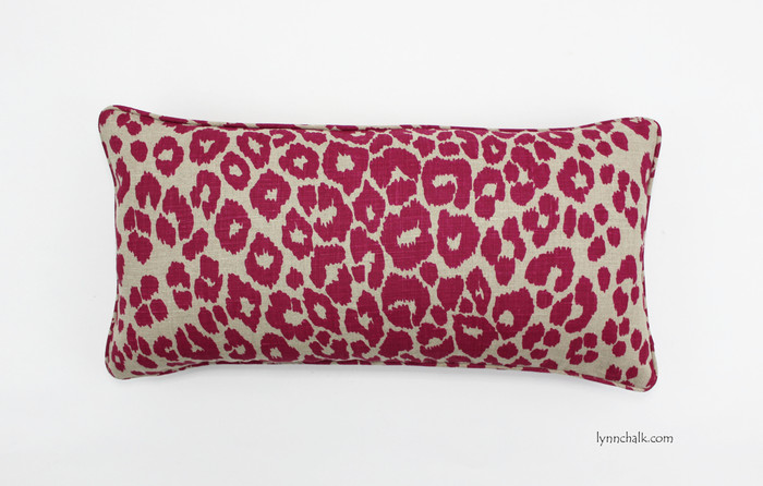 "ON SALE - Schumacher Iconic Leopard Knife Edge Pillow Cover in Fuchsia (Both Sides-Made To Order) 24 & 26"" are not available"