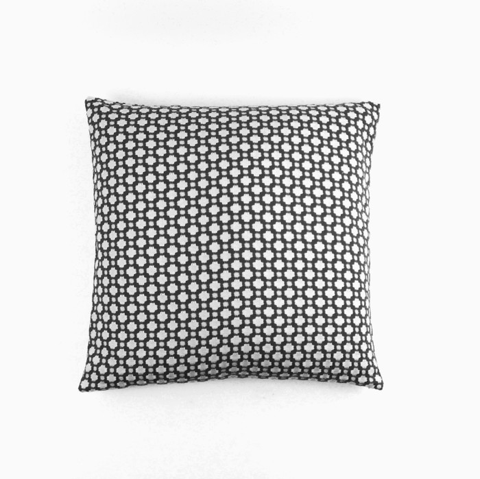 ON SALE - Schumacher Betwixt Knife Edge 18 X 18 Pillow Cover in Charcoal (Both Sides-Made To Order)