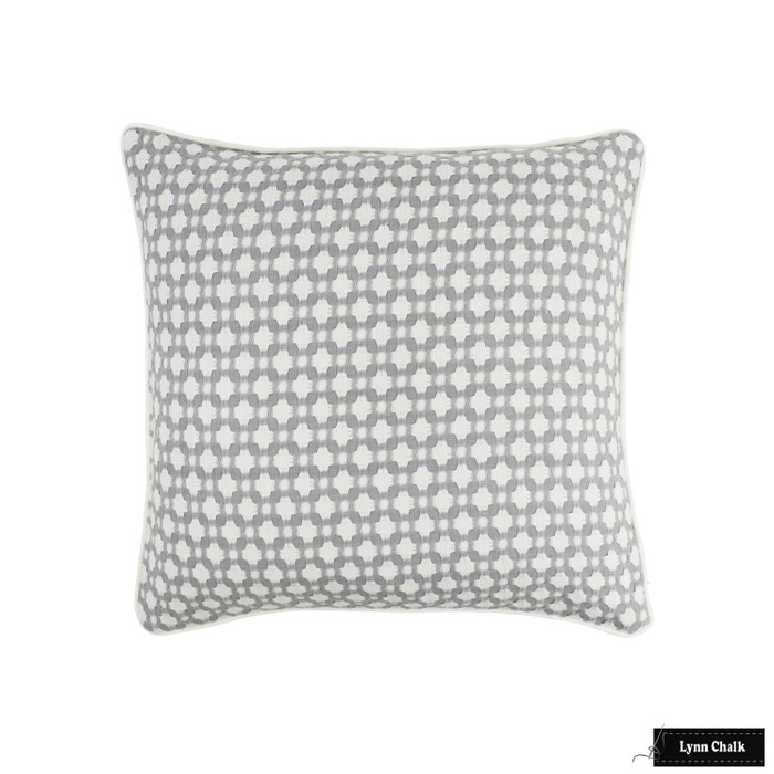 ON SALE - Schumacher Betwixt Knife Edge Pillow Cover in Stone (Both Sides-Made To Order)