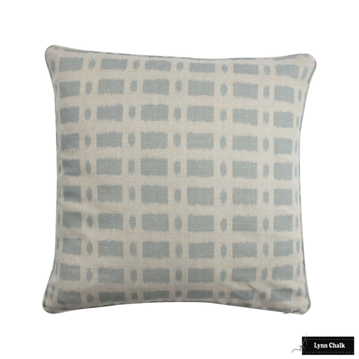 ON SALE - Schumacher Townline Road Blue Knife Edge Pillow Cover (14 X 24 Both Sides) Made To Order