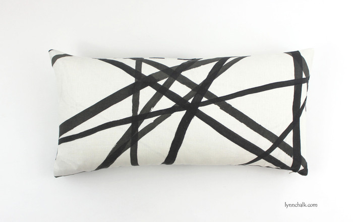 ON SALE 50% OFF Kelly Wearstler for Lee Jofa Channels Ebony/Ivory Pillow (Both Sides - 14 X 24) Made To Order