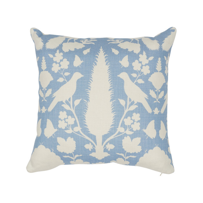 ON SALE - Schumacher Chenonceau in Sky Knife Edge Pillow Cover (20 X 20 - Front Only) Made To Order
