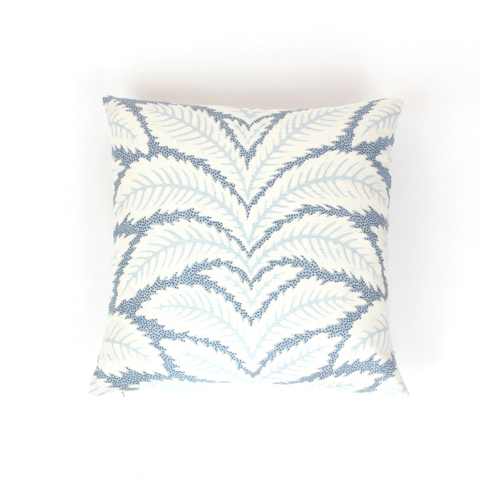 ON SALE - Brunschwig & Fils Talavera Blue BR-79204.222 Knife Edge Pillow Cover (18 X 18 - Both Sides) Made To Order