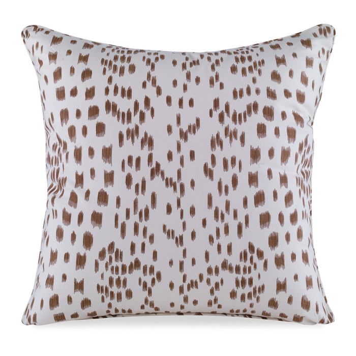 ON SALE 40% Off - Brunschwig & Fils Les Touches  Pillow in Tan 8012138.16  with Self Welt (18 X 18) - Both Sides) Made To Order