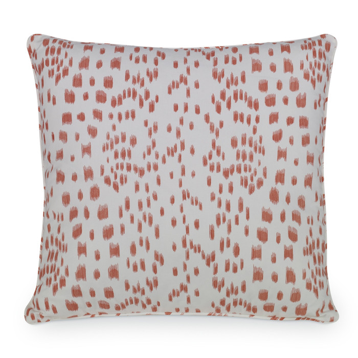 ON SALE 40% Off - Brunschwig & Fils Les Touches  Pillow in Tangerine with Self Welt (20 X 20 - Both Sides) Made To Order