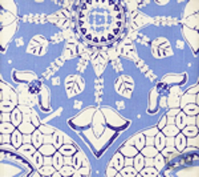 Quadrille New Batik French Blue Navy on White - 5 Yard Minimum Order