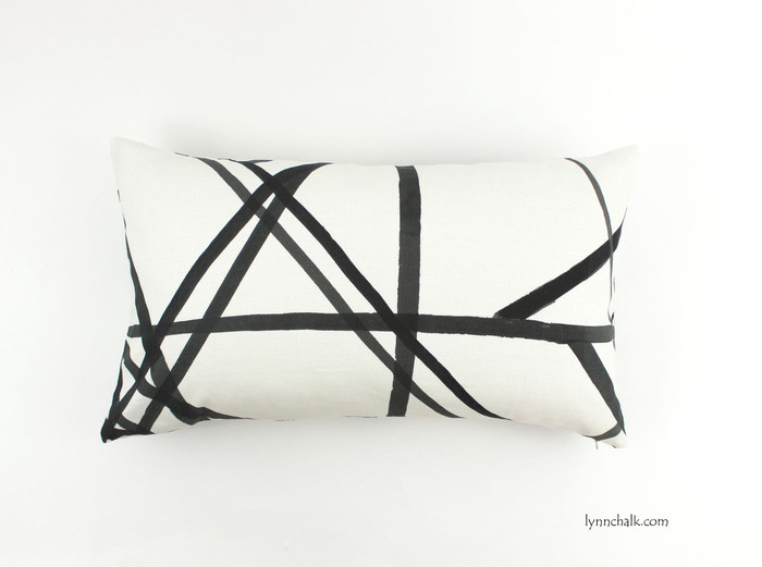ON SALE 50% OFF Kelly Wearstler for Lee Jofa Channels Ebony/Ivory Pillow (Both Sides - 11 X 20) Made To Order