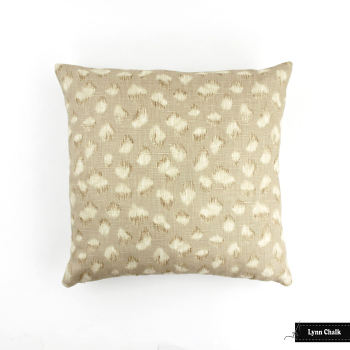 ON SALE 50% Off-Kelly Wearstler for Lee Jofa Feline 18 X 18 Knife Edge Pillow in Ebony Beige (Both Sides) Made To Order