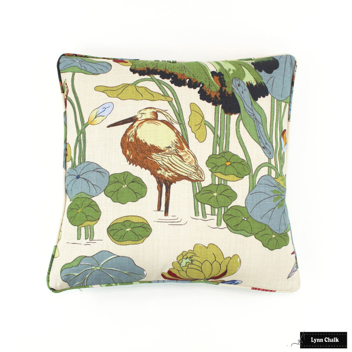 ON SALE -  Lee Jofa/GP & J Baker Nympheus Pillow in Stone Pistachio R1206.1 20 with welting (Front Only- Made To Order)