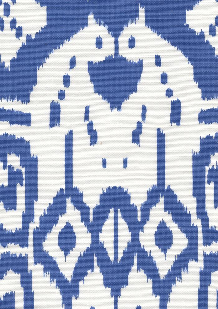 Quadrille Island Ikat Royal Blue on White 6460-41