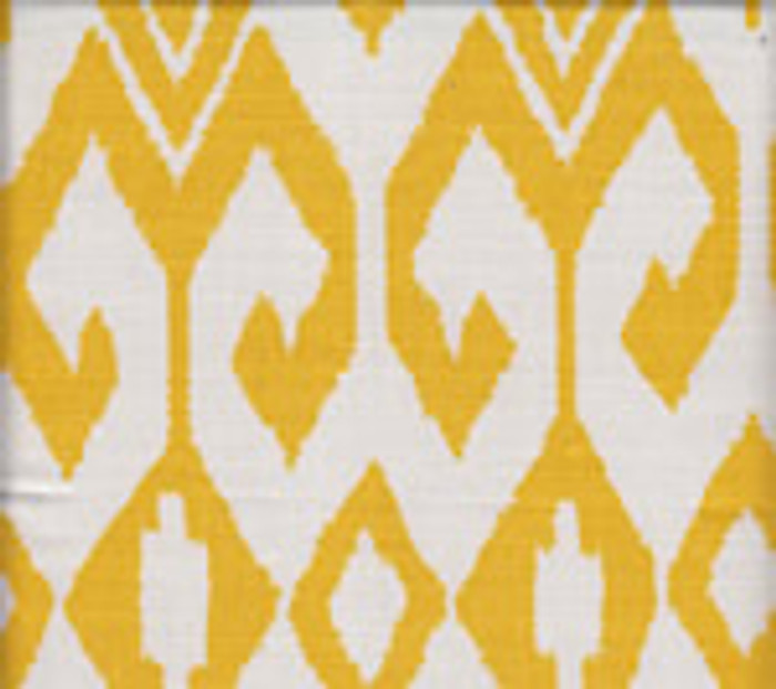 Quadrille Alan Campbell Aqua II Yellow on White 7230-02
