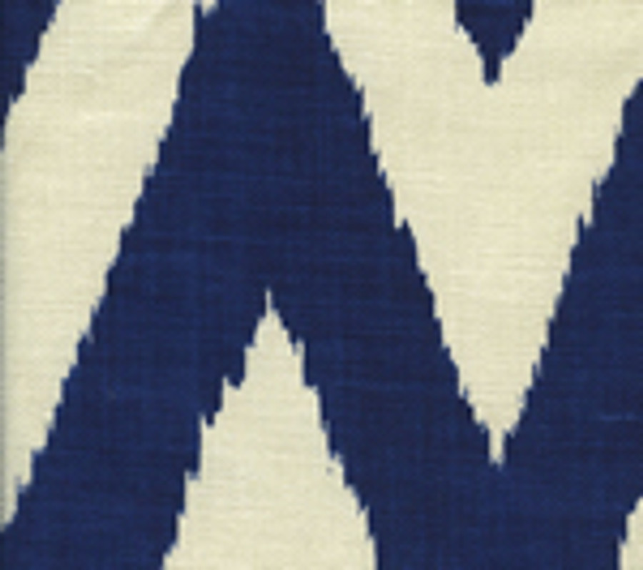 Quadrille Tashkent Royal Blue on Oyster