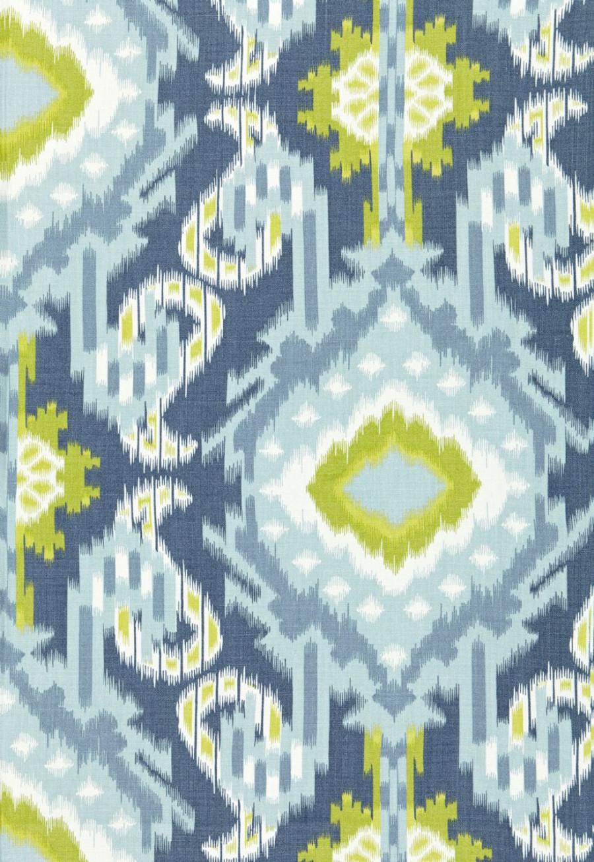 Schumacher Kiribati Ikat Print Aquamarine 174982