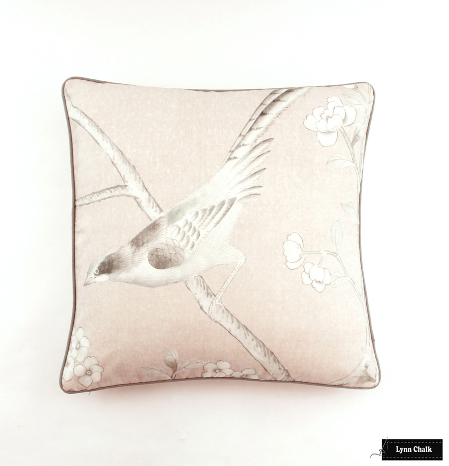Schumacher Mary McDonald Chinois Palais Blush Conch (Priced and Sold by the 3.75 Yard Full Panel)