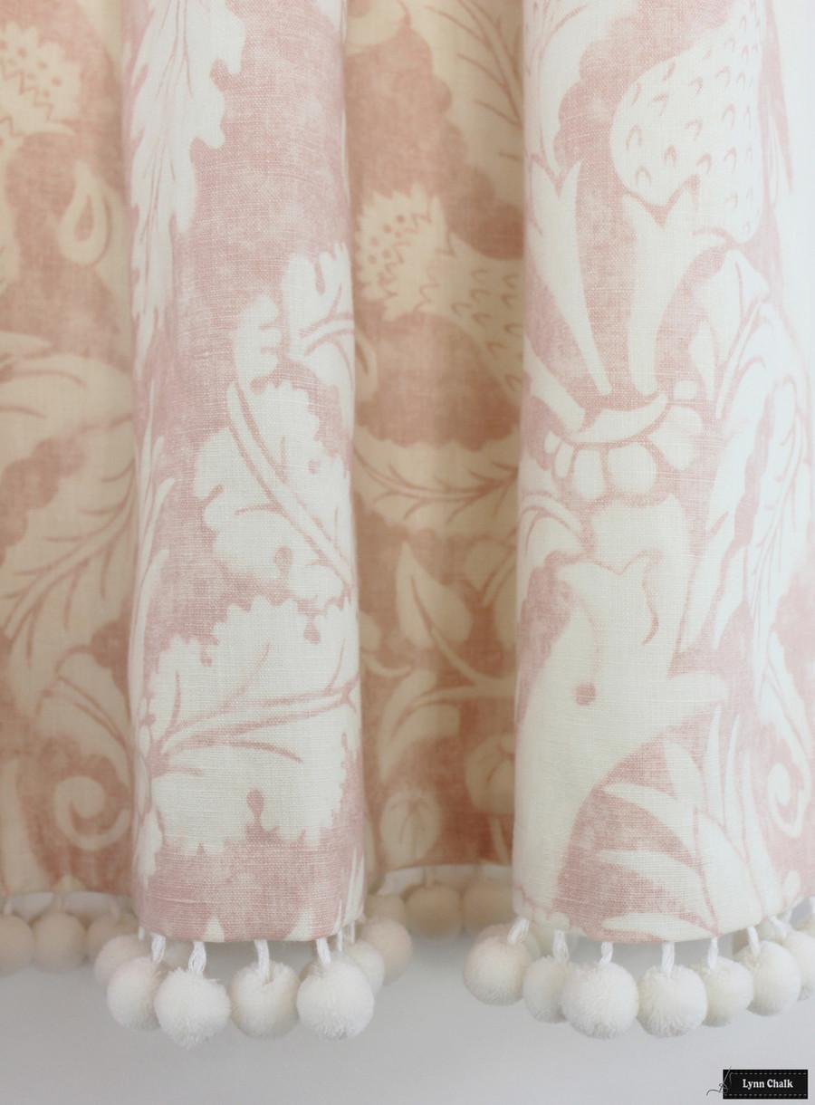 Schumacher Mary McDonald Villa De Medici Blush Drapes