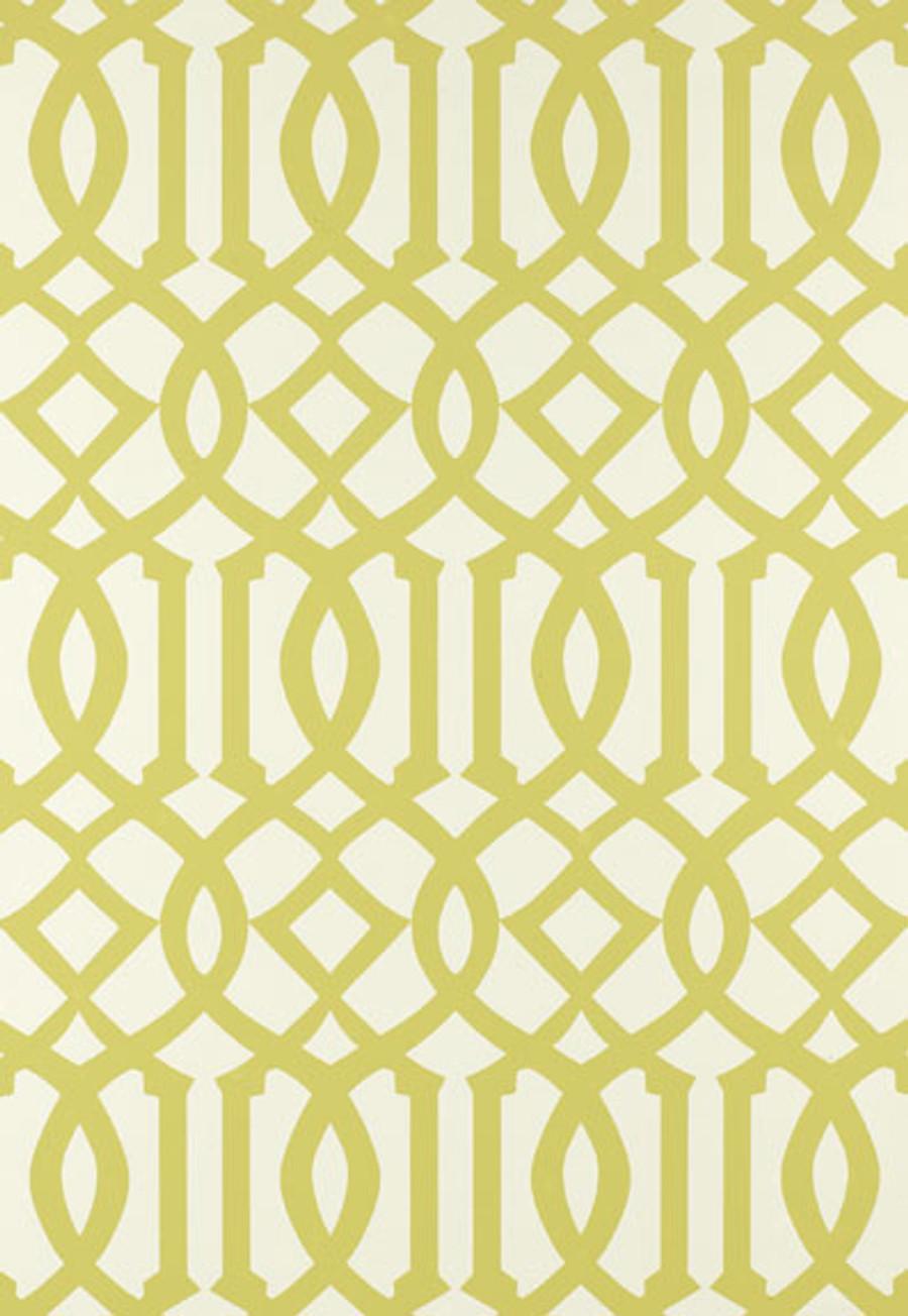 Schumacher Imperial Trellis Citrine Wallpaper 2707213