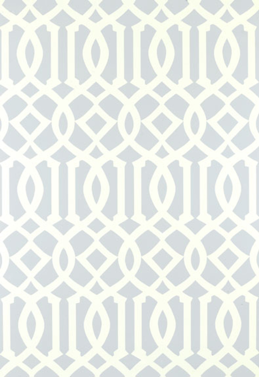 Schumacher Imperial Trellis Soft Aqua Wallpaper 5003363