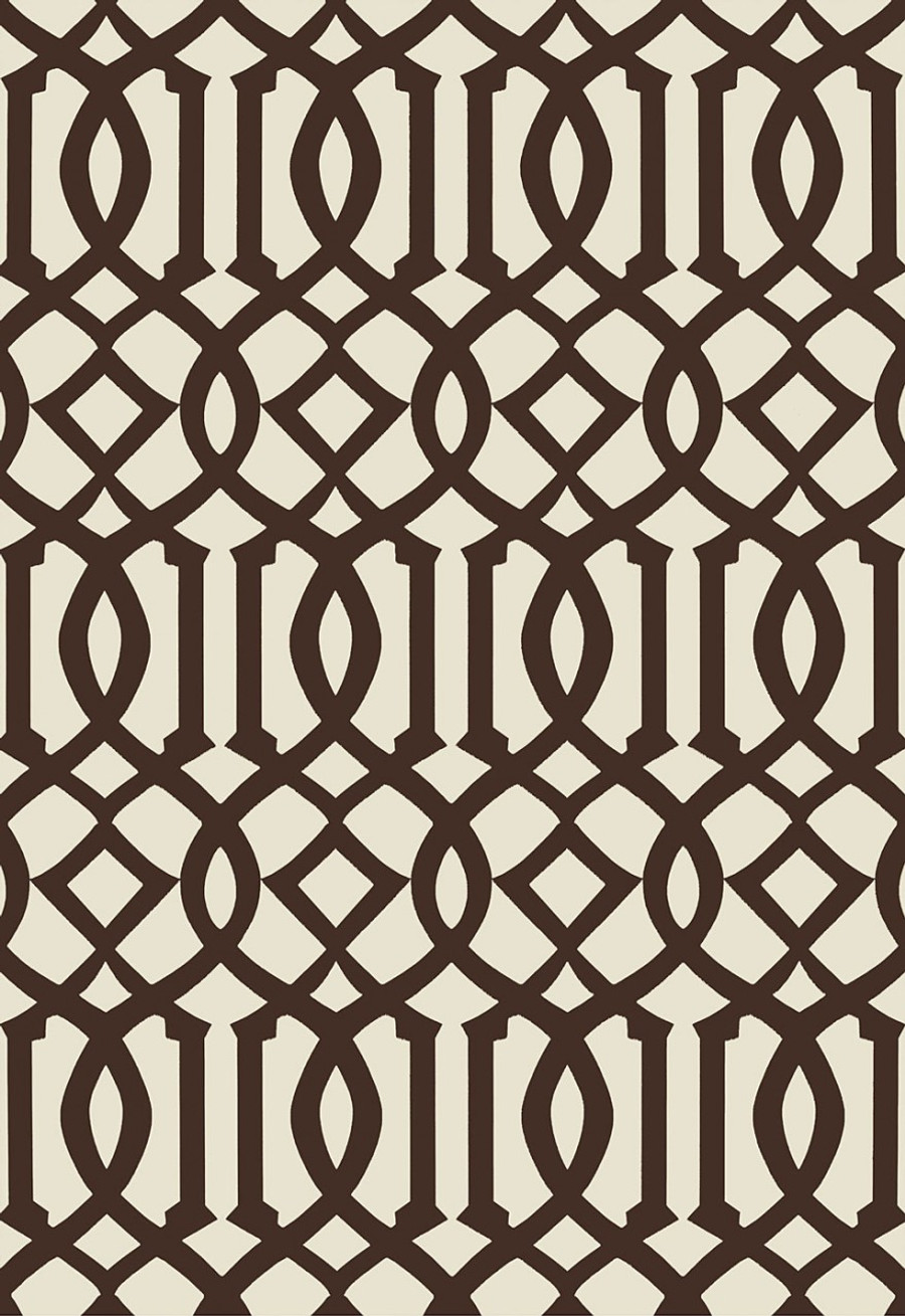 Schumacher Imperial Trellis II Java/Cream Wallpaper 5005803