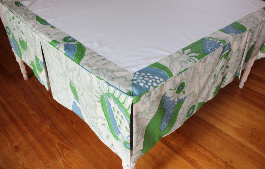 Christopher Farr Carnival in Green Custom Bedskirt