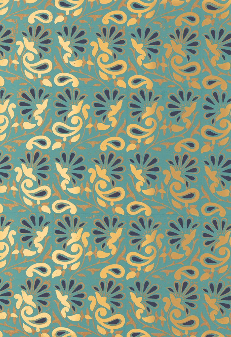 Schumacher Rampura Wallpaper Turquoise 5005343