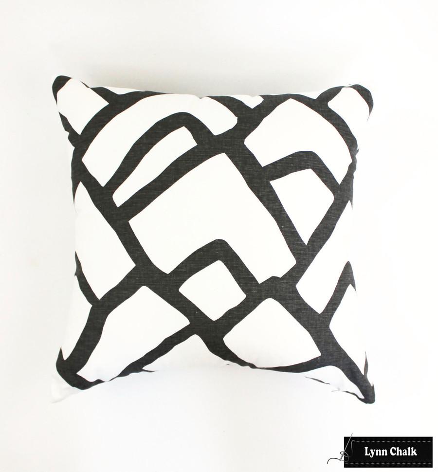 Schumacher Zimba Dark Charcoal Grey Fabric 2644330 (2 Yard Minimum Order)