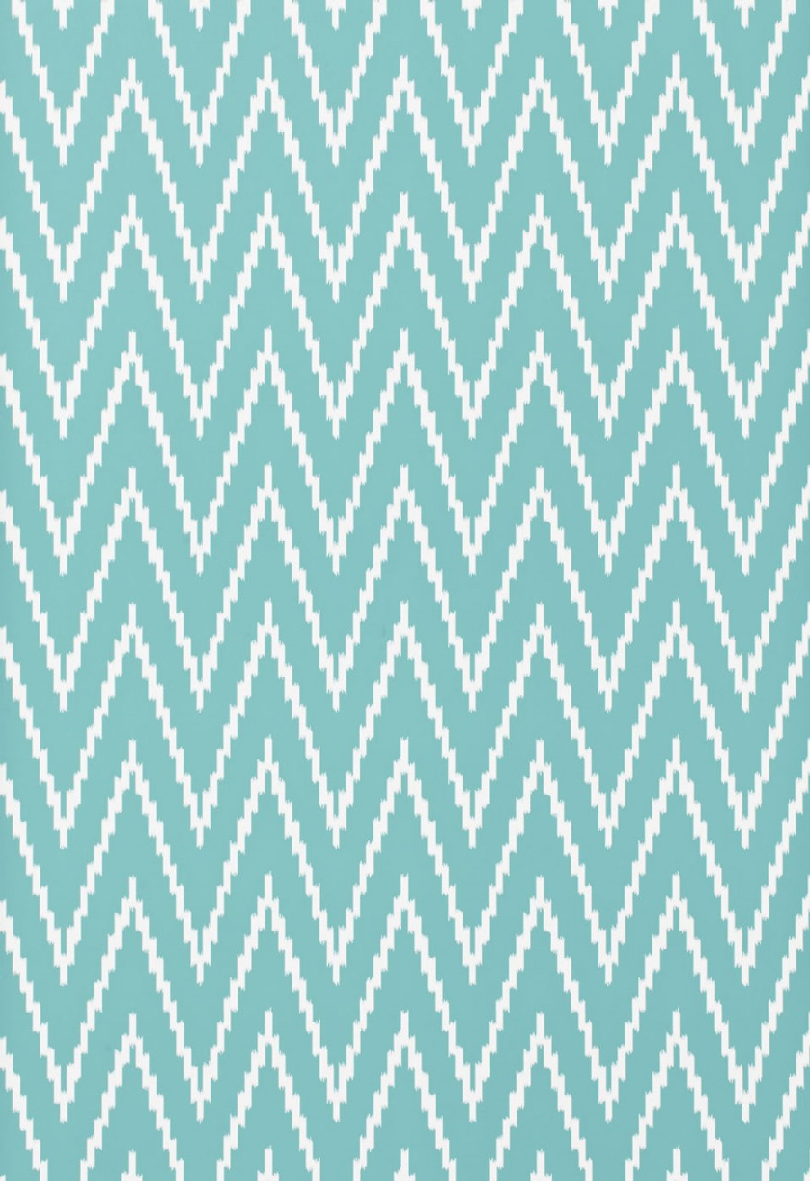 Schumacher Kasari Ikat Wallpaper Azure 5005995