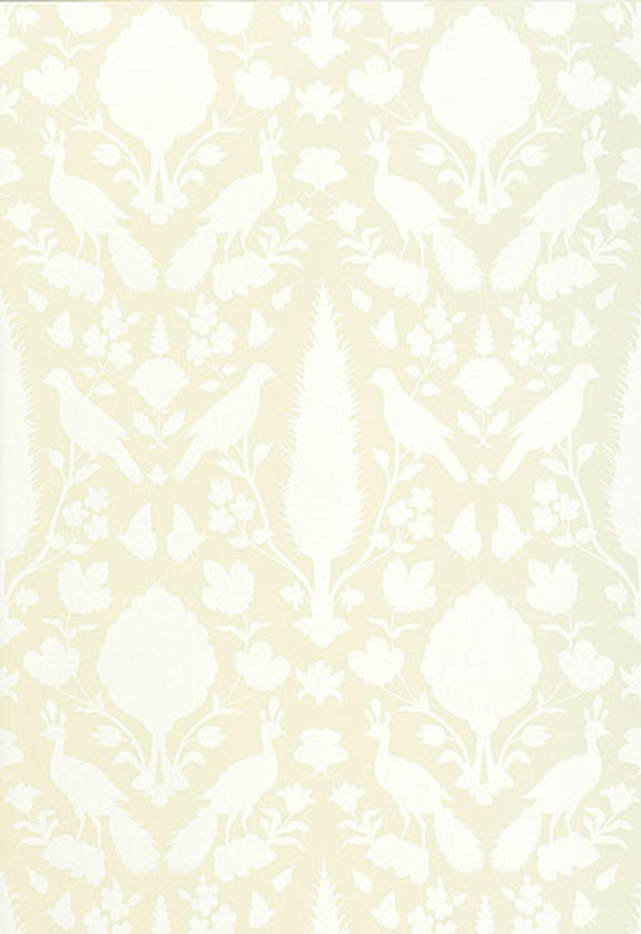 Schumacher Chenonceau Wallpaper Bisque 5004124