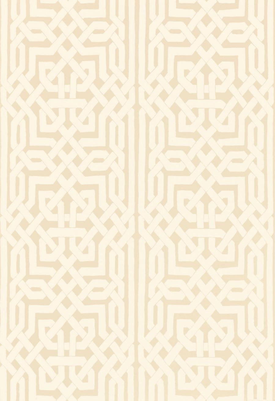 Schumacher Malaga Wallpaper Flax 5005930