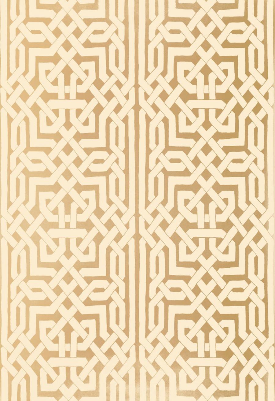 Schumacher Malaga Wallpaper Gold 5005931