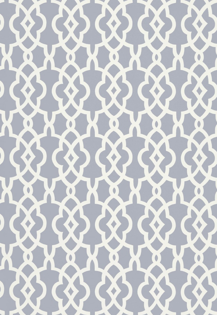 Schumacher Summer Palace Fret Wallpaper Wisteria  5005142