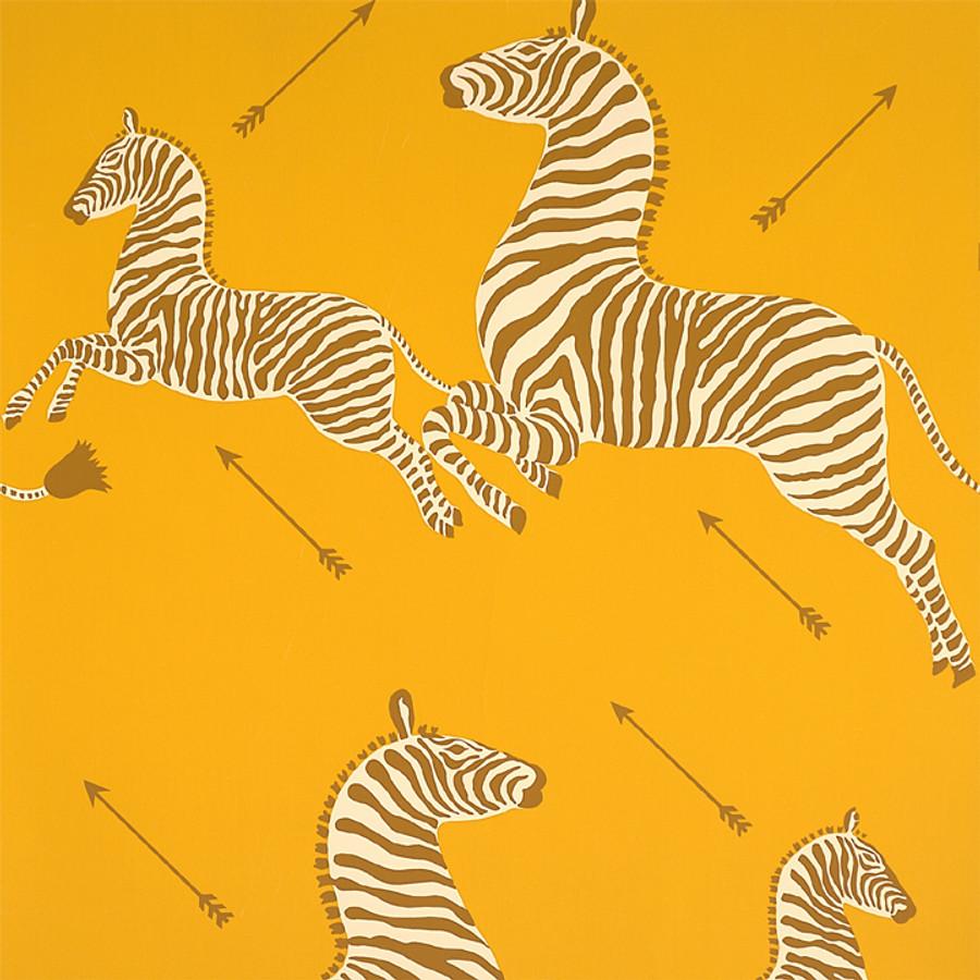 Scalamandre Zebras Wallpaper Zanzibar Gold - 2 Roll Minimum Order