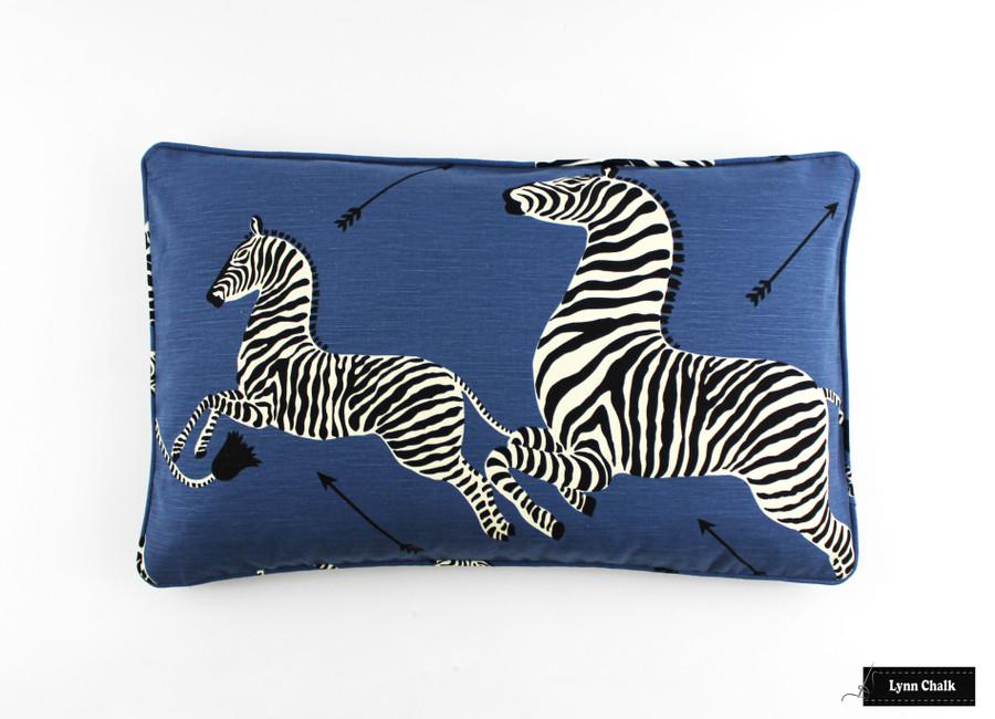 Roman Shade in Scalamandre Zebras  (Shown in Denim)