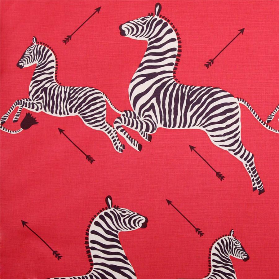 Scalamandre Zebras in Masai Red