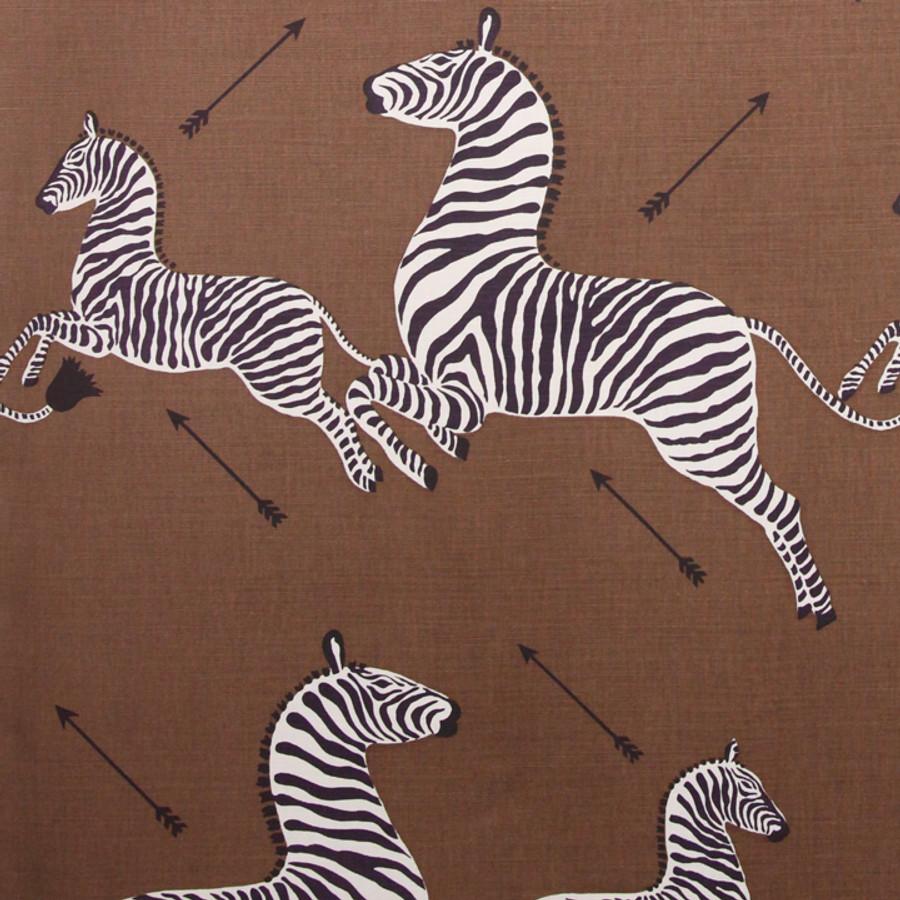 Scalamandre Zebras in Safari Brown
