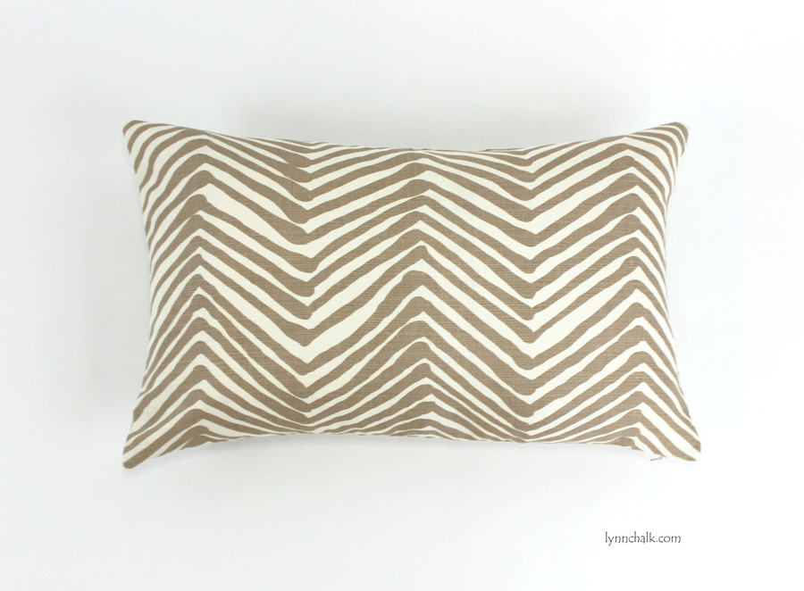 Pillow in Zig Zag Taupe on Tint (14 X 22)