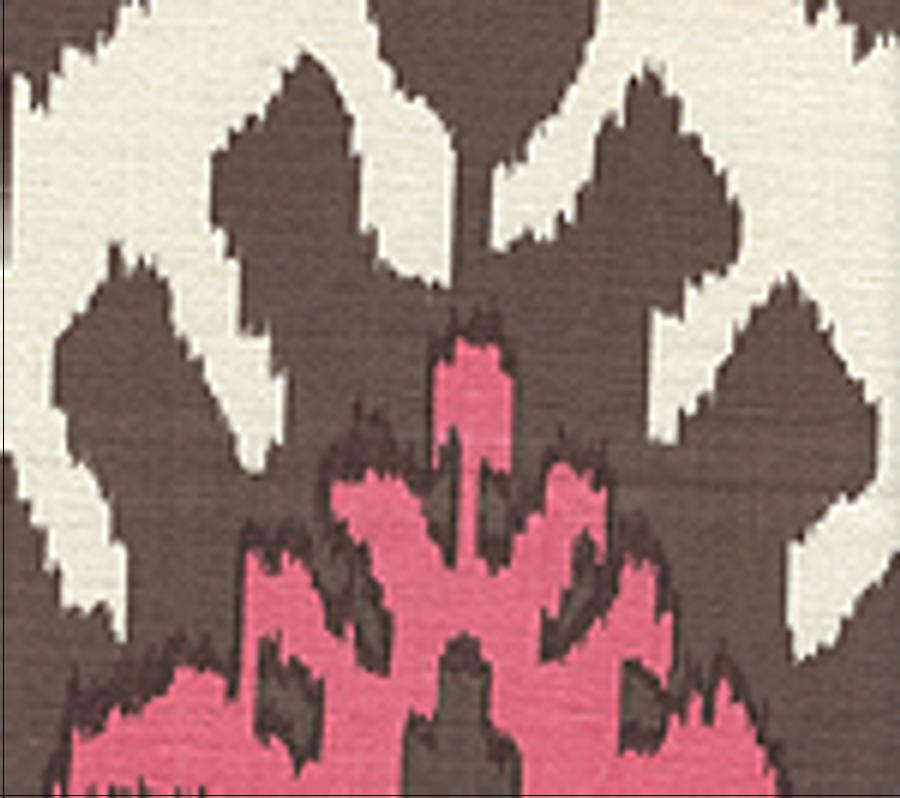 Quadrille Kazak Brown Pink on Tint