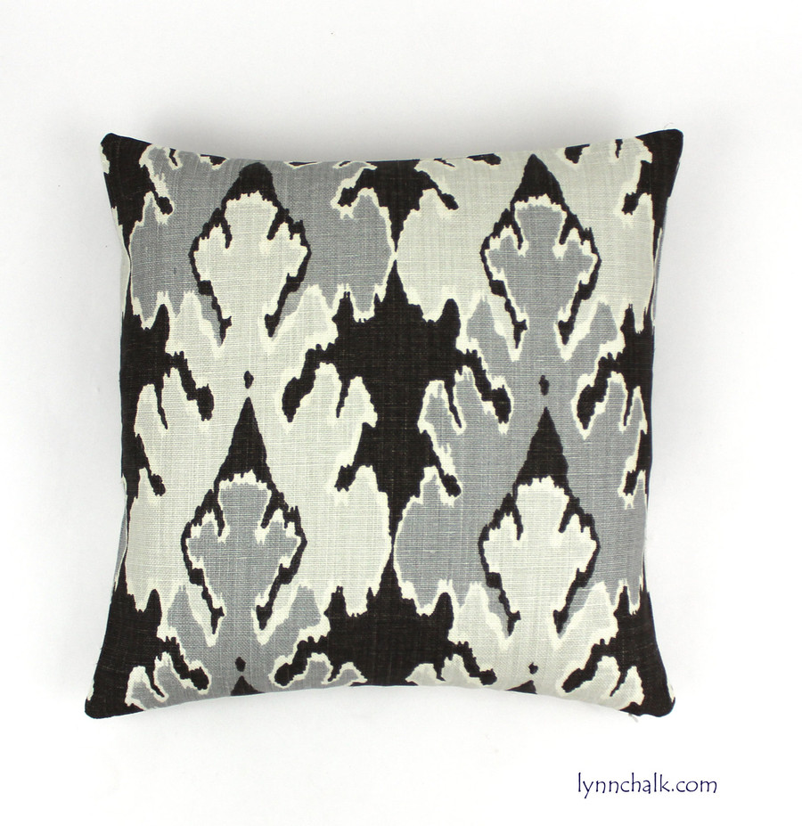 Custom Pillow by Lynn Chalk in Kelly Wearstler Bengal Bazaar Graphite GWF-2811_811