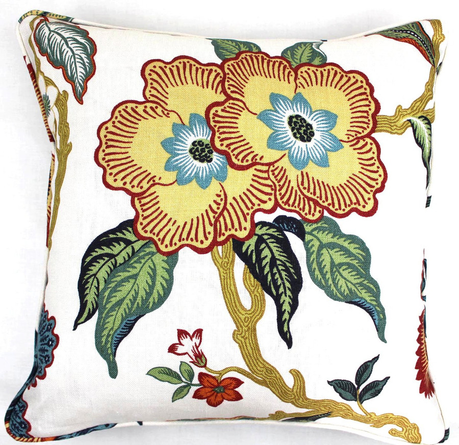 Celerie Kemble Hot House Flowers Spark (18 X 18 with self welting)