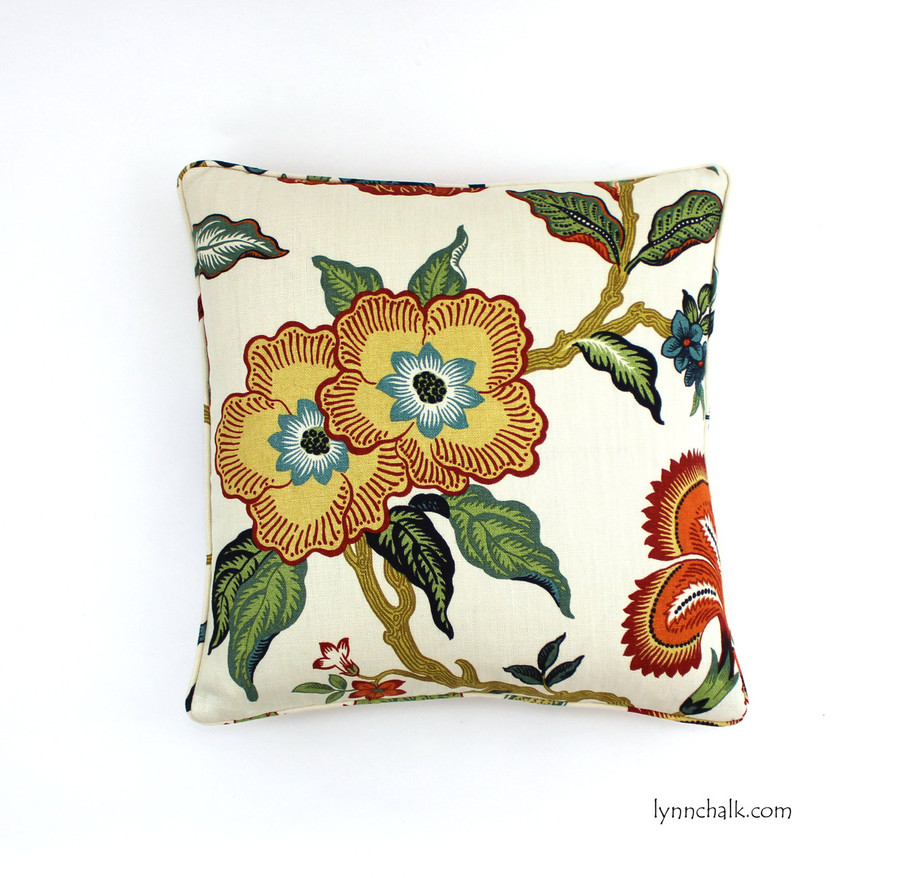 Celerie Kemble Hot House Flowers Spark (20 X 20 with self welting)