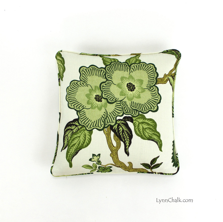 Celerie Kemble Hot House Flowers Verdance (16 X 16) with self welting