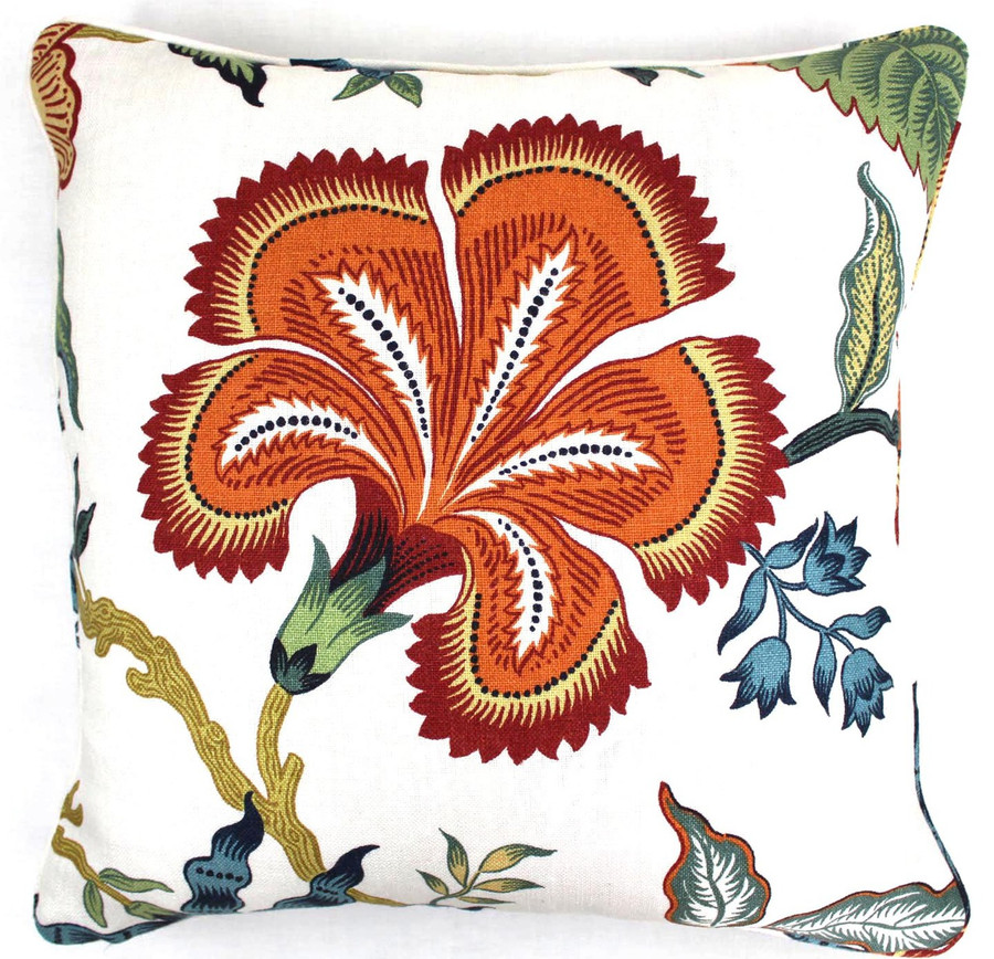 Celerie Kemble Hot House Flowers Spark (18 X 18) with self welting