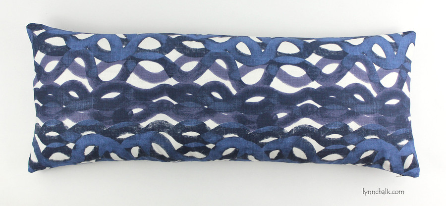 12 X 36 Pillow in Christopher Farr Fathom in Indigo