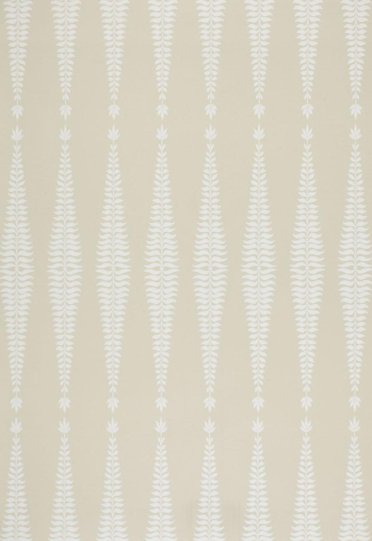 Schumacher Fern Tree Wallpaper in Bone  5005071
