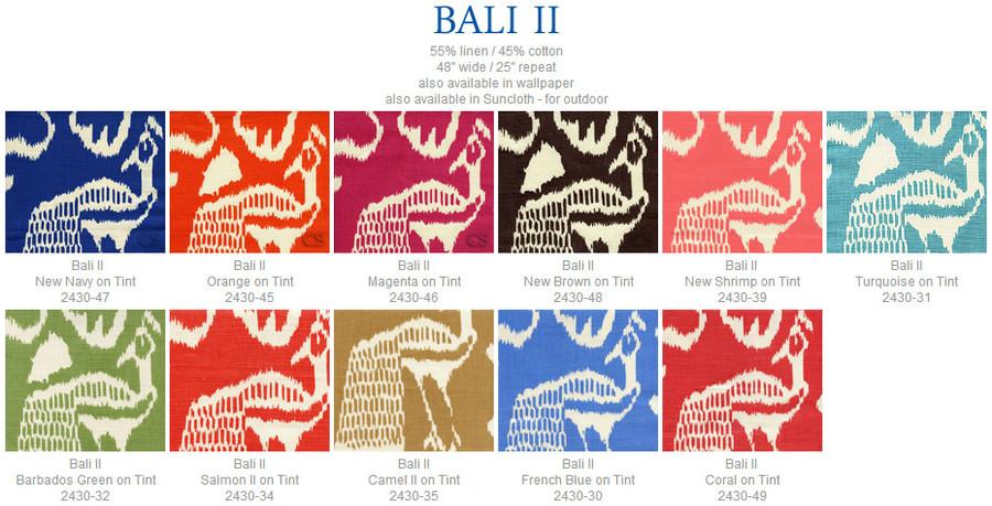 Quadrille China Seas Bali II Coral on Tint - 5 Yard Minimum Order