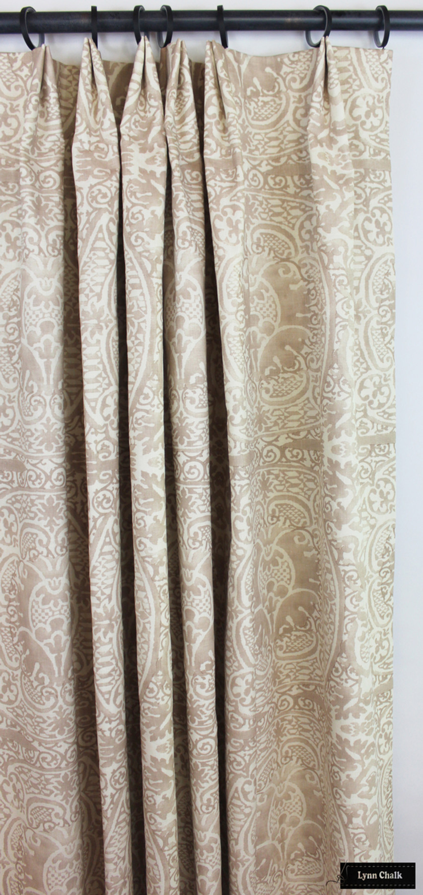 Custom Drapes in Veneto in Pumice