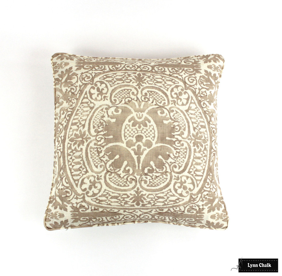 Quadrille Veneto in Pumice with Self Welting Pillow (18 X 18)
