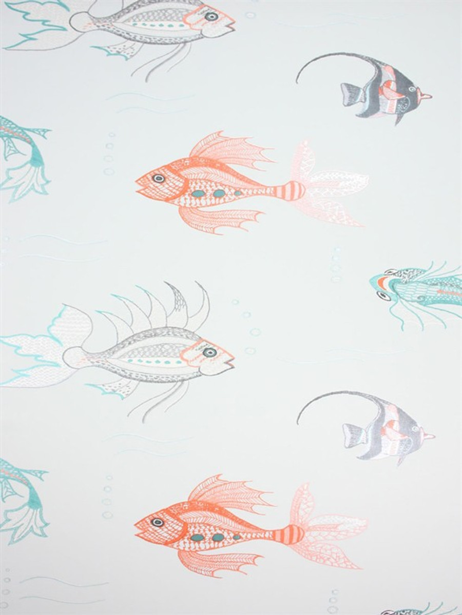 Aquarium Wallpaper 02 by Osborne & Little by Nina Campbell Perroquet