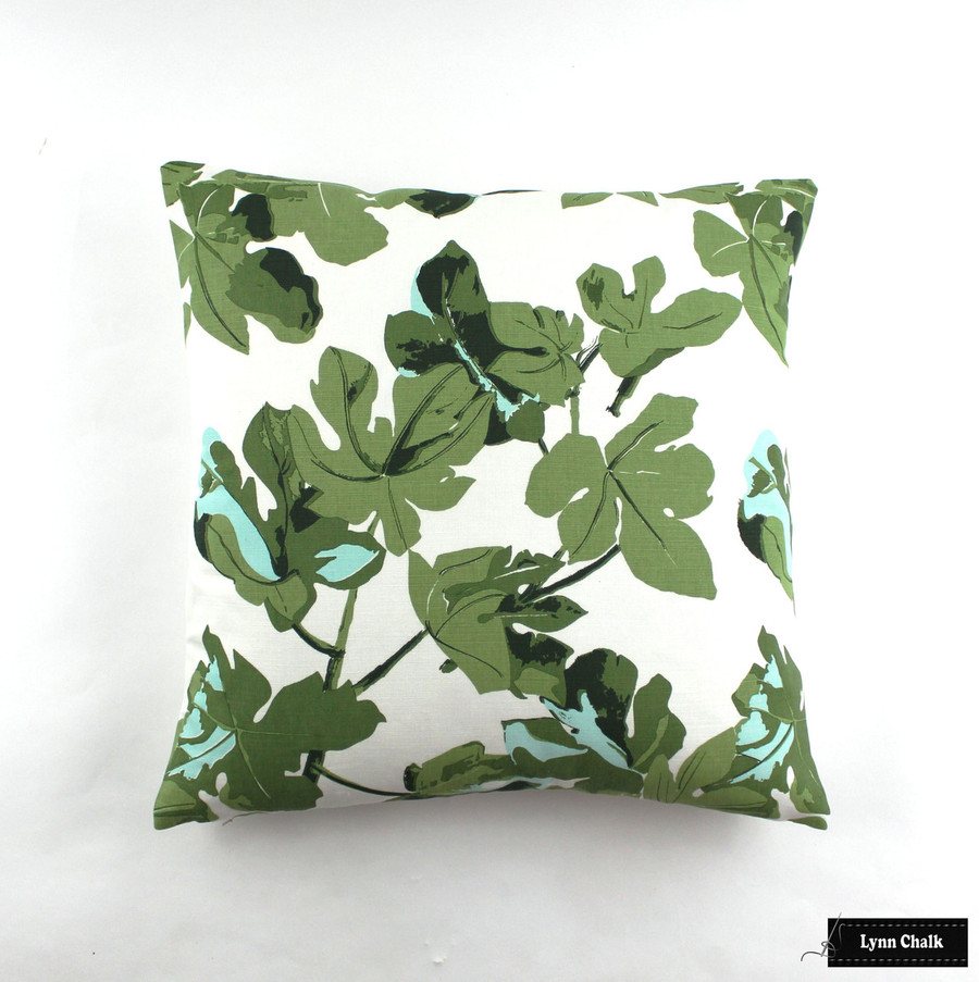 Pillows (22 X 22) Fig Leaf on White