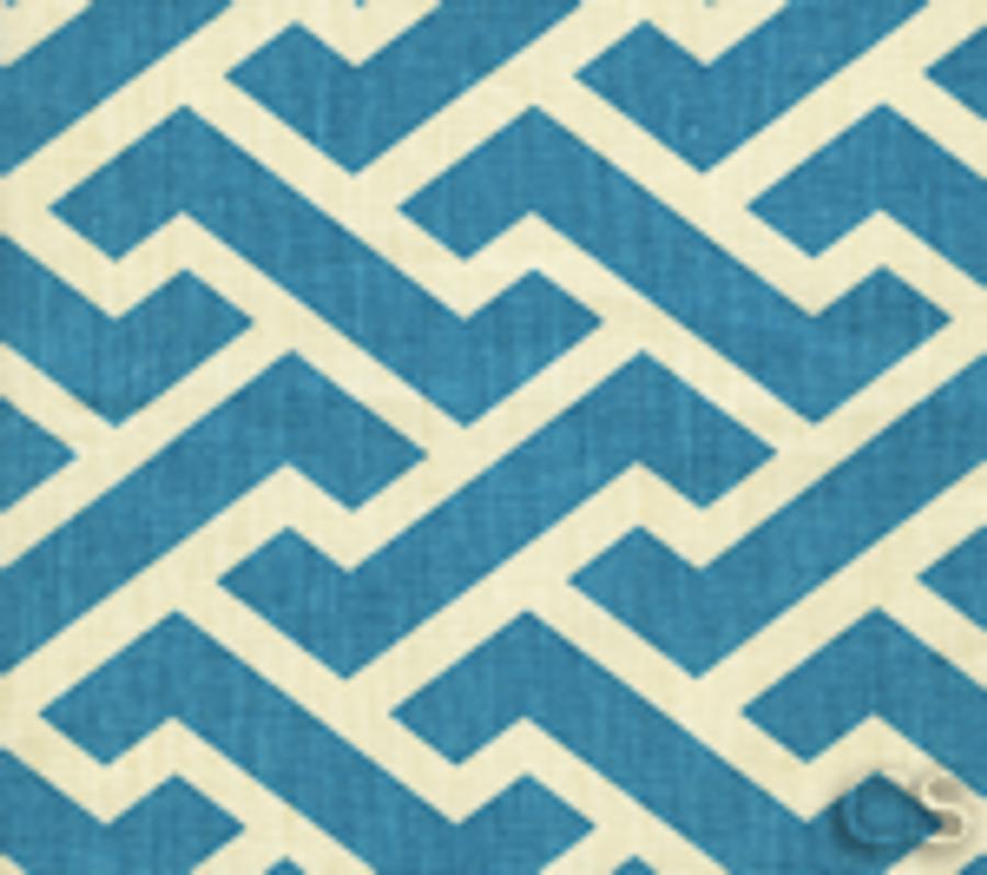 Quadrille China Seas Aga Reverse Turquoise on Tint